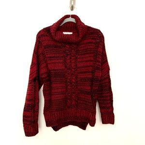 J.O.A. Distressed Chunky Cable Sweater.